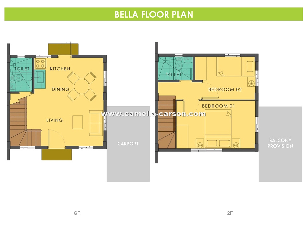 Bella House for Sale in Camella Carson at Vista City