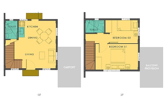 Bella Floor Plan House and Lot in Camella Carson