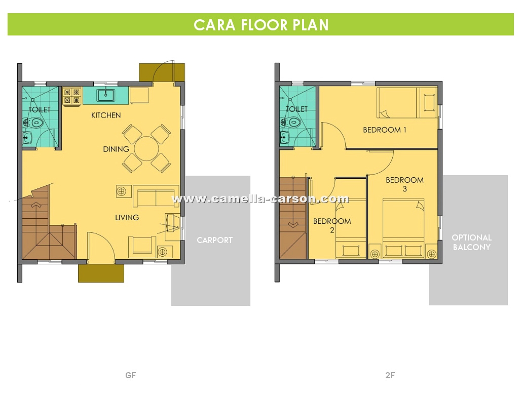 Cara House for Sale in Camella Carson at Vista City