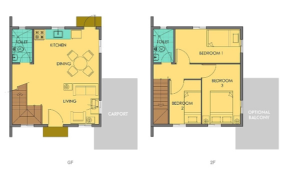 Cara Floor Plan House and Lot in Camella Carson