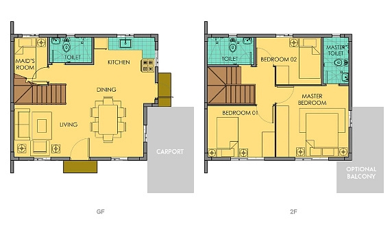 Dana Floor Plan House and Lot in Camella Carson