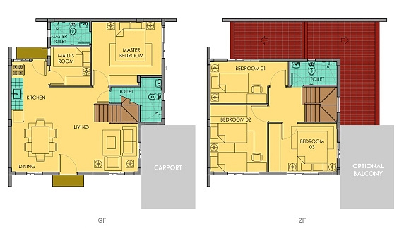 Ella Floor Plan House and Lot in Camella Carson