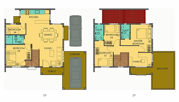 Freya Floor Plan House and Lot in Camella Carson