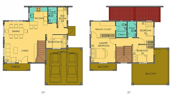 Greta Floor Plan House and Lot in Camella Carson