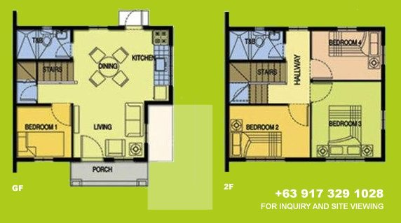 Carina Floor Plan House and Lot in Camella Carson