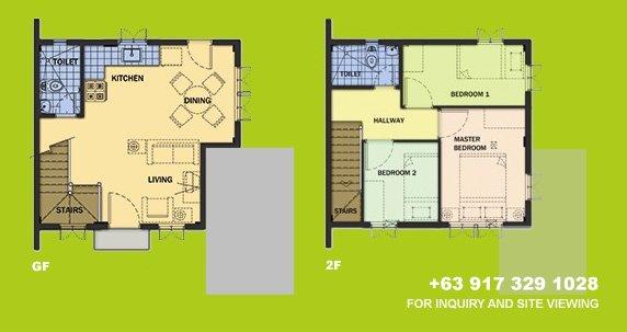 Carmela Floor Plan House and Lot in Camella Carson