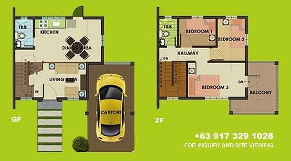 Carmina Downhill Floor Plan House and Lot in Camella Carson