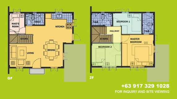Drina Floor Plan House and Lot in Camella Carson