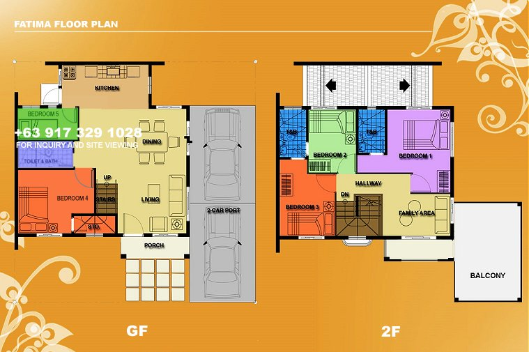 Fatima Floor Plan House and Lot in Camella Carson