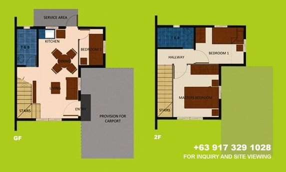 Mara Floor Plan House and Lot in Camella Carson