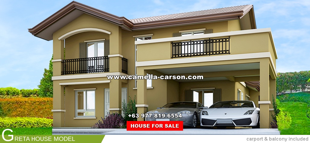 Greta House for Sale in Camella Carson